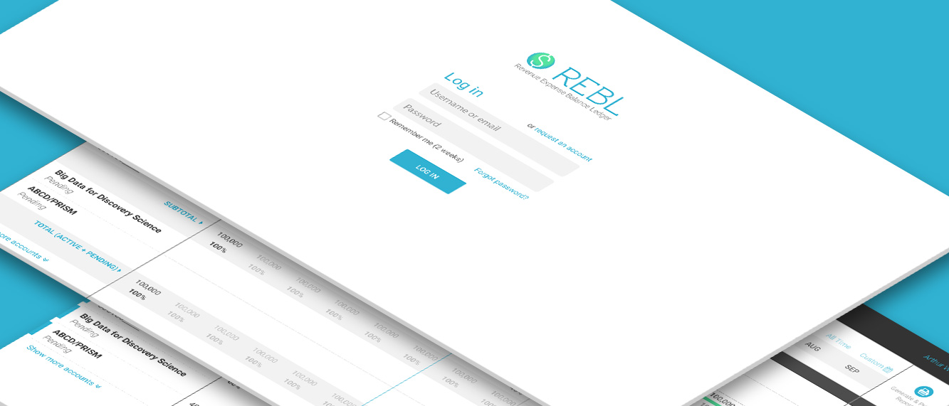 Design screens for REBL web application